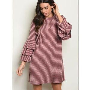 Dresses & Skirts - Striped Ruffle Tunic Dress